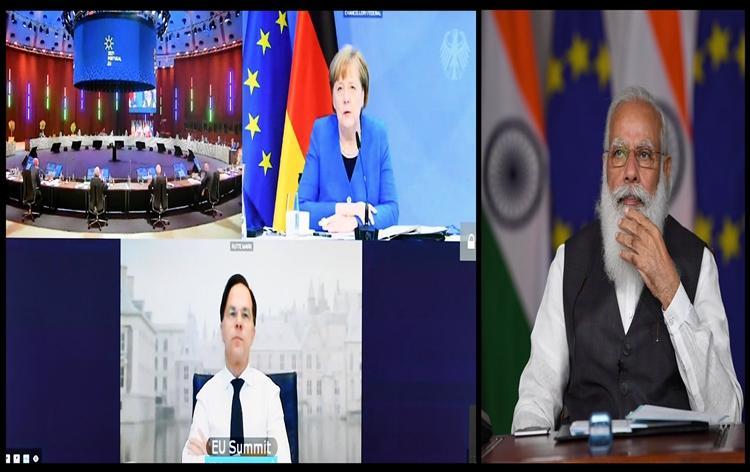 PM Modi Participates in Virtual India-EU Leaders' Meeting| ভার্চুয়াল ভারত-ইইউ নেতাদের বৈঠকে প্রধানমন্ত্রী মোদি অংশ নিয়েছেন_40.1