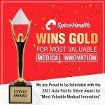 SpiceHealth wins Gold Stevie Award 2021