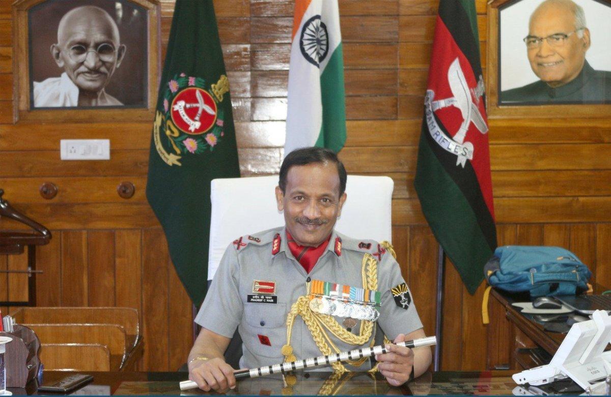 Lt. General Pradeep Chandran Nair takes charge as DG of Assam Rifles | लेफ्टनंट जनरल प्रदीप चंद्रन नायर यांनी आसाम रायफल्सचे डीजी म्हणून पदभार स्वीकारला_40.1