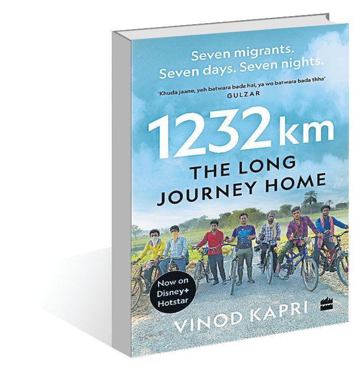 A book title '1232 km: The Long Journey Home' by Vinod Kapri_40.1