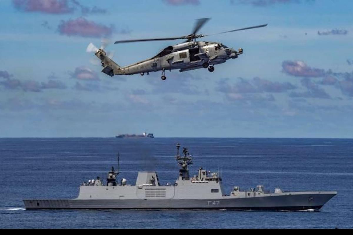 India- USA Navy Passage Exercise in Indian Ocean Region I हिंद महासागर प्रदेशात भारत-यूएसए दरम्यान नेव्ही पॅसेज सराव_40.1