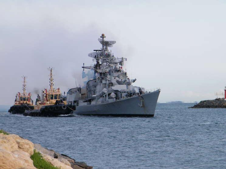 Indian Navy Warship Conducted Military Drill With South Korean Vessel