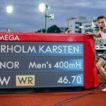 Norway's Karsten Warholm breaks men's 400 metres hurdles world record