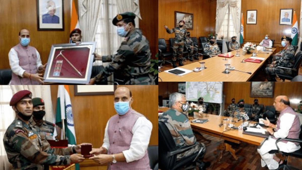"Rajnath Singh flags-in Indian Army's Skiing Expedition ""ARMEX-21"" | রাজনাথ সিং ভারতীয় সেনাবাহিনীর স্কাইং অভিযানকে ""ARMEX-21"" ফ্ল্যাগ-ইন করলেন_40.1"