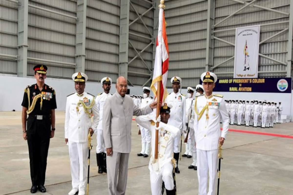 Indian Navy's aviation wing honoured with prestigious President's Colour award_40.1