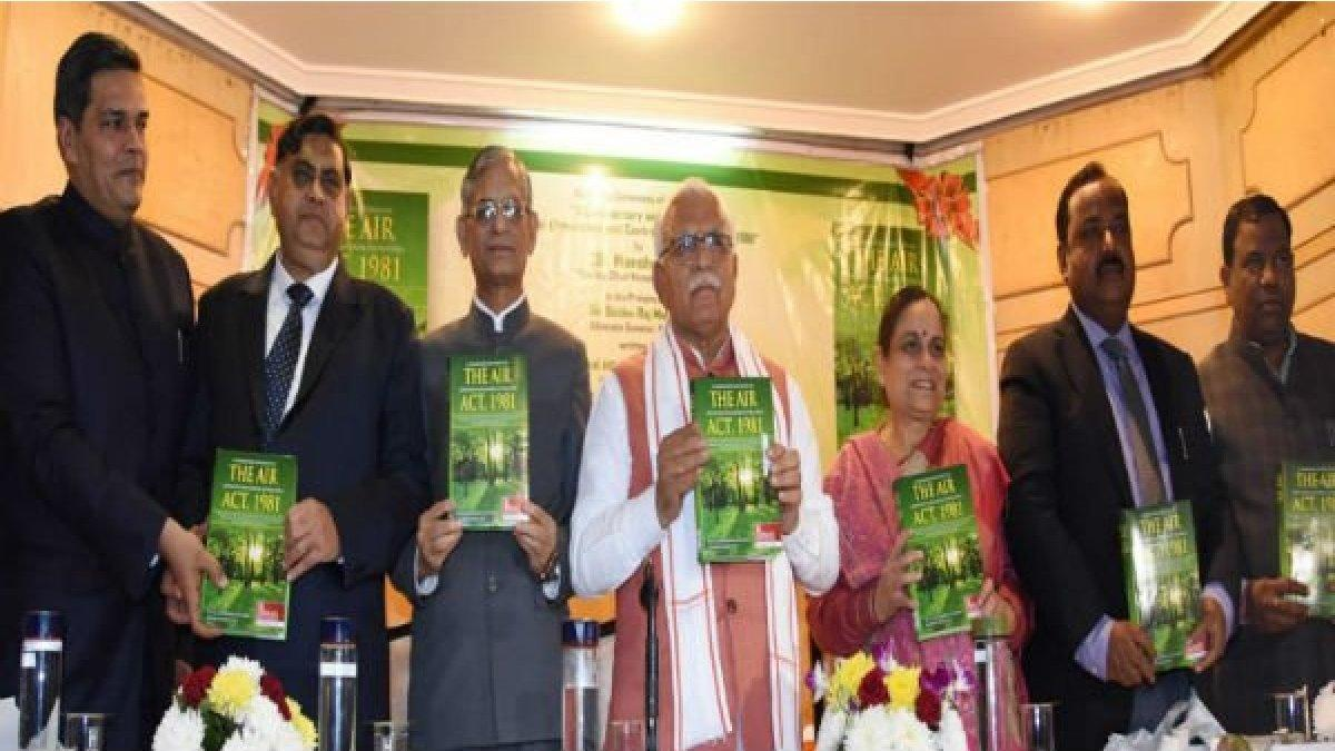 Manohar Lal Khattar releases book titled 'Haryana Environment and Pollution Code'_40.1