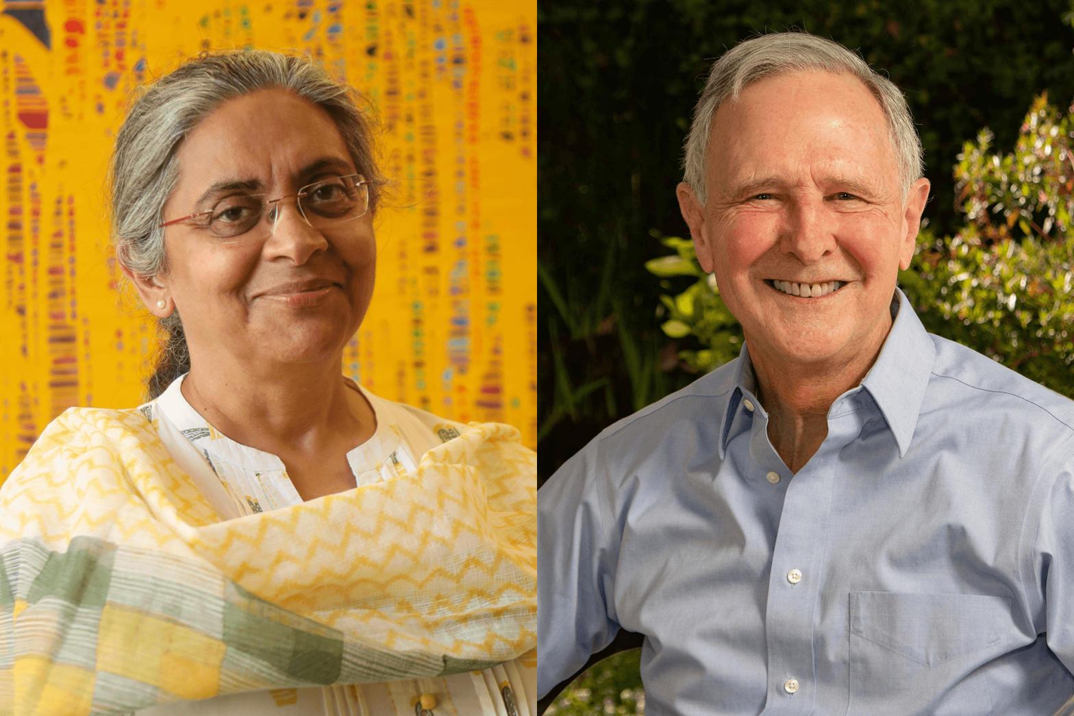 Prof Eric Hanushek and Dr. Rukmini Banerji awarded the 2021 Yidan Prize_40.1