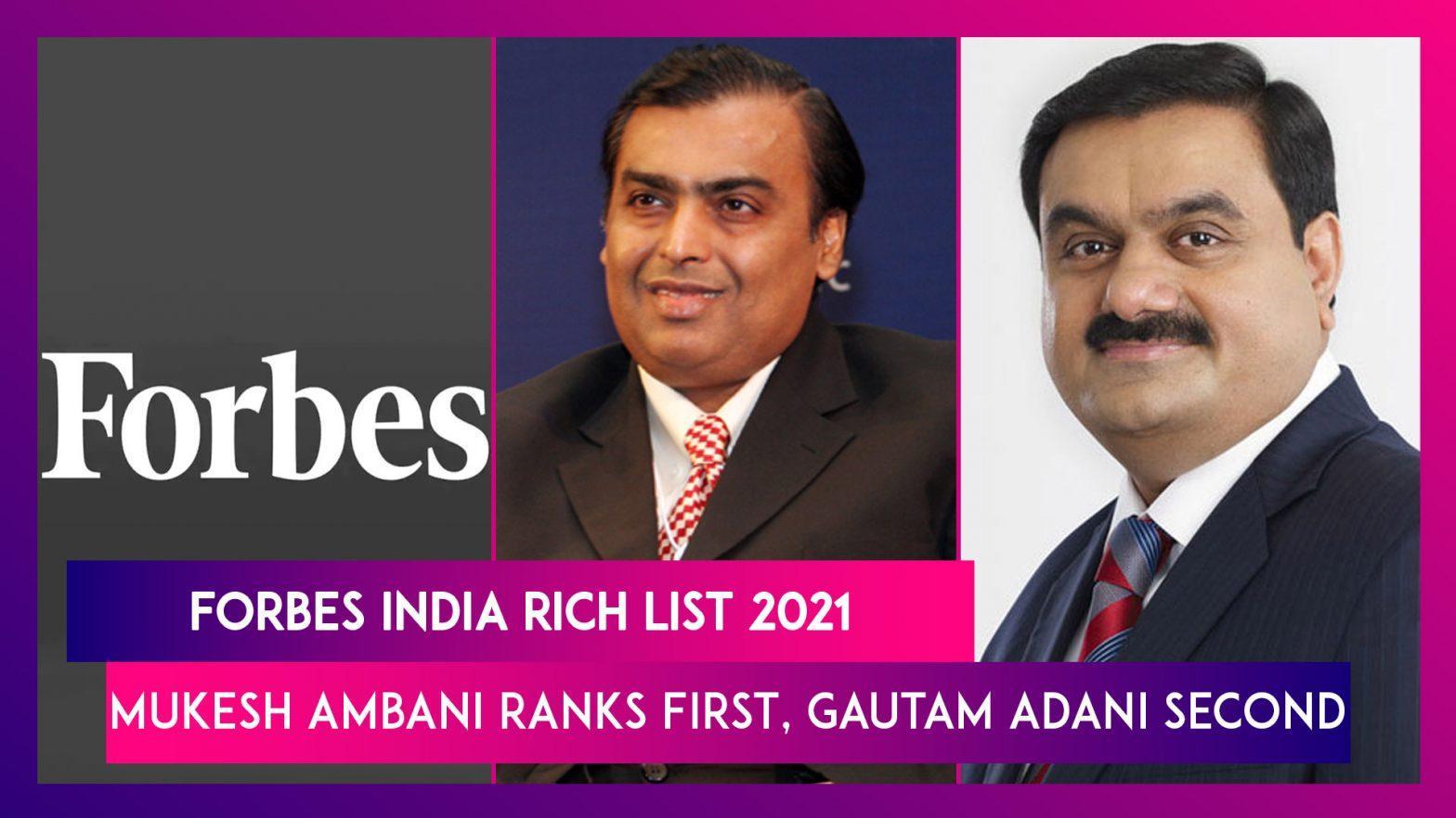 Mukesh Ambani tops Forbes India Rich List 2021_40.1